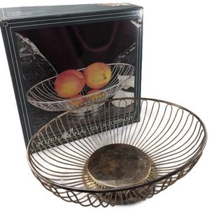 Silverplated Oval Wire Basket